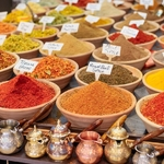 Closeup,Of,A,Counter,With,A,Big,Variety,Of,Spices