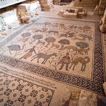 Ancient,Byzantine,Natural,Stone,Tile,Mosaics,With,With,Geometric,Patterns,